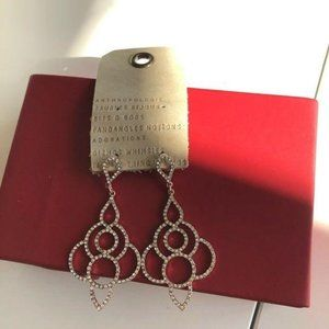 NWT Anthropologie crystal statement earrings